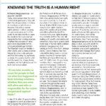 Das Recht auf Wahrheit ist ein Menschenrecht