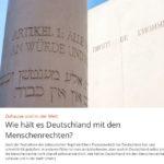 Wie hält es Deutschland mit den Menschenrechten...